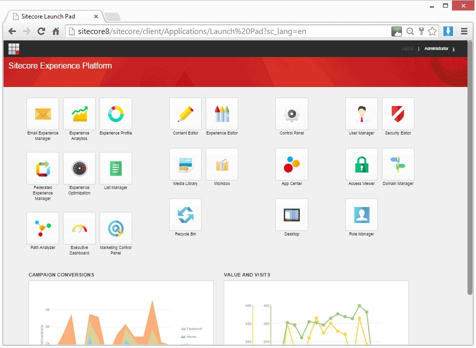 หน้าตาของระบบ Sitecore Experience ที่ออกแบบ UX ได้ดี
