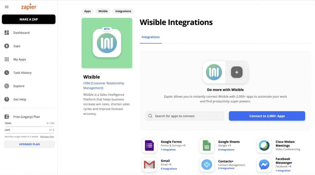 Wisible integration