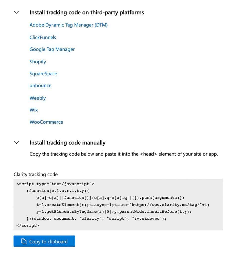 Microsoft-clarity-heatmap-tracking