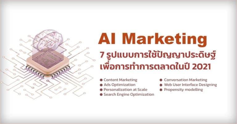 การใช้ Artificial Intelligence สำหรับงานด้าน Marketing  ในอนาคต
