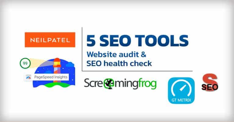 5 เครื่องมือตรวจสอบคุณภาพเว็บไซต์ และ SEO Health Check ใช้ได้ฟรีๆ