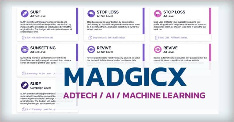 Madgicx  เครื่องมือ AdTech ที่ใช้ AI & Machine Learning ในการ Optimize