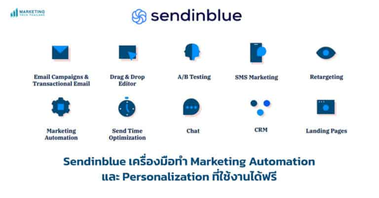 Sendinblue เครื่องมือทำ Marketing Automation และ Personalization ที่ใช้งานได้ฟรี