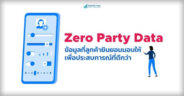 Zero Party Data คืออะไร รู้จักกลยุทธ์เก็บข้อมูลลูกค้าแบบใจแลกใจ